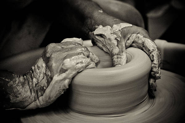 Potters Wheel Wall Art - Photograph - Potter by Caitlyn  Grasso