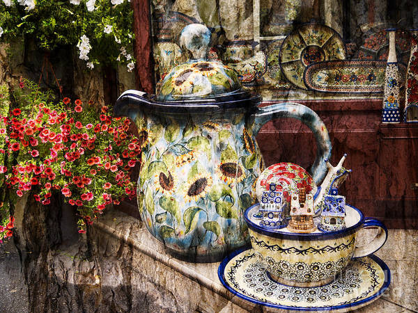 Photograph - Pottery And Flowers by Brenda Kean