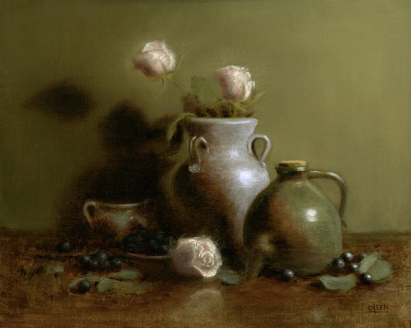 Umber Painting - Pottery Collection. by Christy Olsen