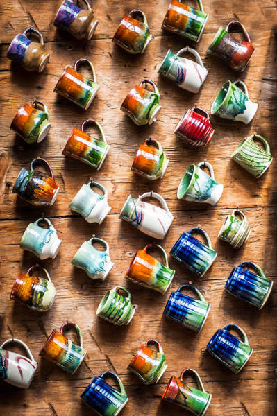 Photograph - Pottery Cups by Crystal Hoeveler