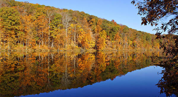 Photograph - Pounds Hollow Lake In Autumn by Sandy Keeton