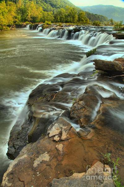 Photograph - Pouring Through The New River by Adam Jewell