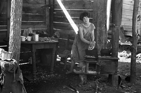 Lean-tos Photograph - Poverty Lean-to, 1936 by Granger