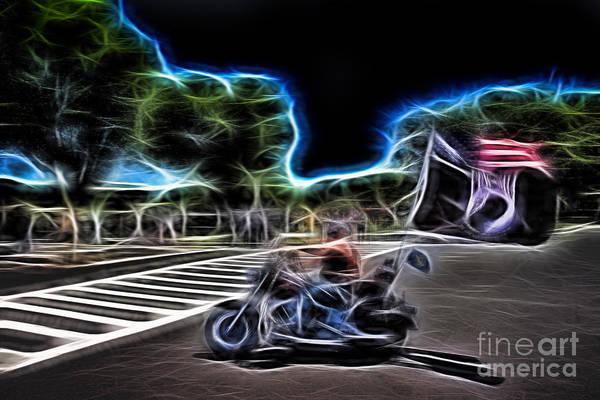 Wall Art - Photograph - Pow Biker Abstract by Tom Gari Gallery-Three-Photography