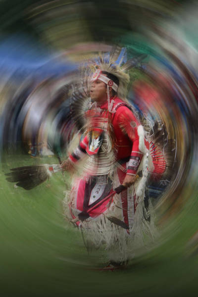 Photograph - Pow Wow Indian Dancer No. 0169 by Randall Nyhof