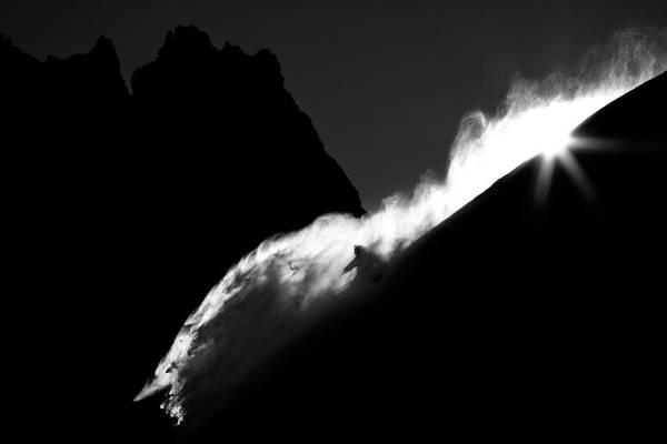 Wall Art - Photograph - Powder Turn by Tristan Shu
