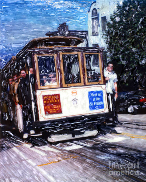 Mixed Media - Powell And Market Cable Car  by Glenn McNary