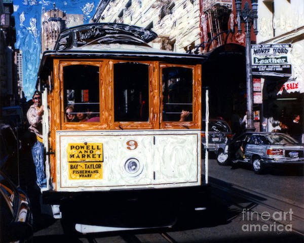 Mixed Media - Powell And Market Cable Car San Francisco by Glenn McNary