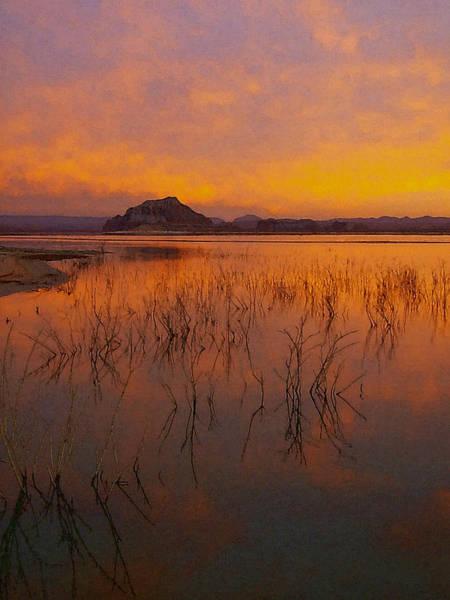 Digital Art - Powell Sunrise 1 by David Hansen
