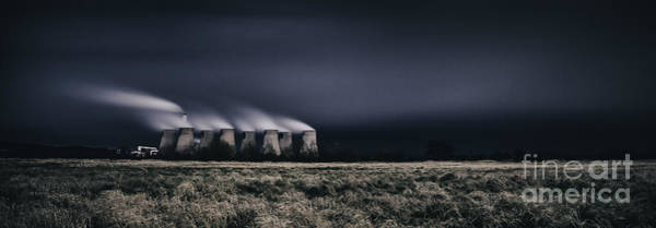 Power Station Wall Art - Photograph - Power After Dark by Nigel Jones