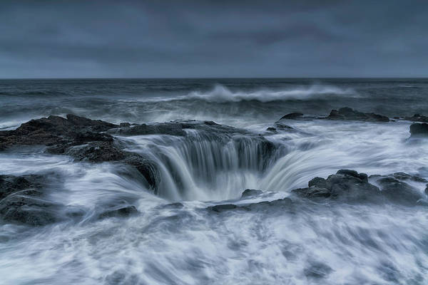 Oregon Coast Photograph - Power by Aidong Ning