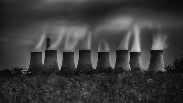 Cooling Tower Photograph - Power And Pollution by Nigel Jones