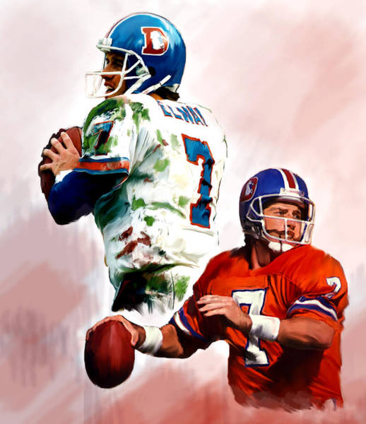 Wall Art - Painting - Power Force John Elway by Iconic Images Art Gallery David Pucciarelli