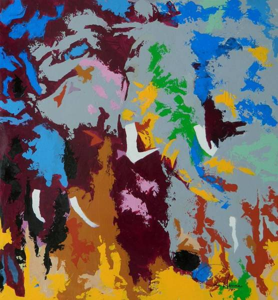 Wall Art - Painting - Power In Color by John Henne