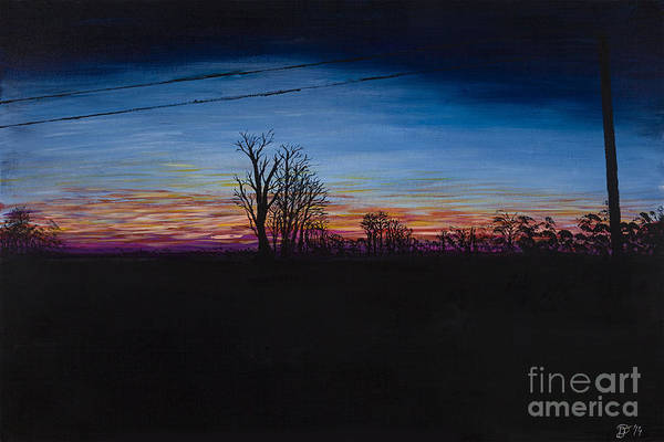Painting - Power Lines by Davend Dominick