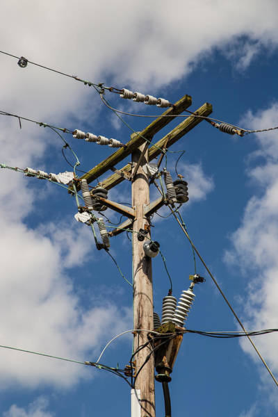 Isolator Wall Art - Photograph - Power Lines by Earl Ball