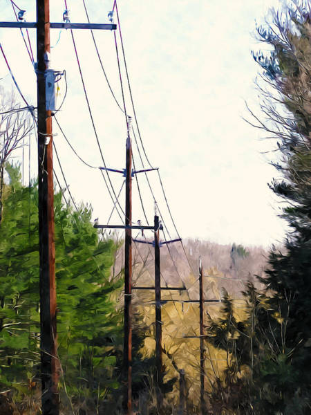 Transformer Painting - Power Lines by Jeelan Clark