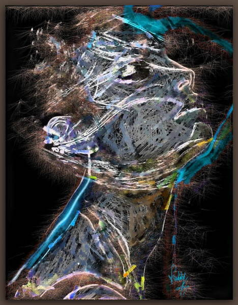 Neon Lights Mixed Media - Power Of Concentration 2 by Freddy Kirsheh