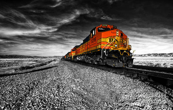 Engine Wall Art - Photograph - Power Of The Santa Fe  by Rob Hawkins