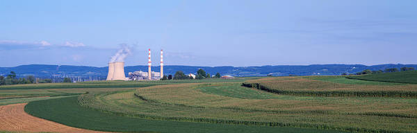 Corn Field Photograph - Power Plant Energy by Panoramic Images