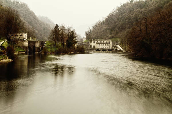 Photograph - Power Plant On River by Roberto Pagani