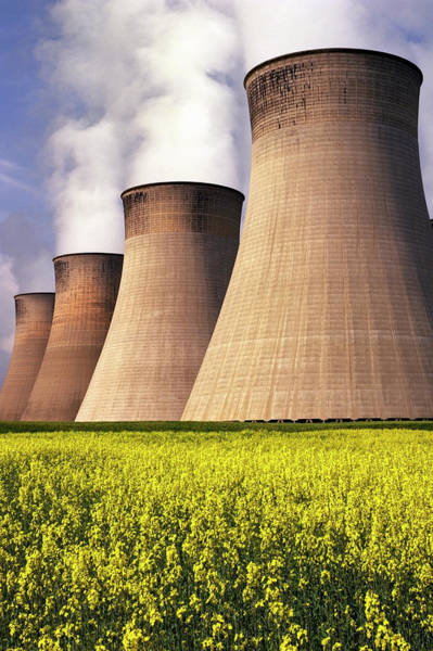 Cooling Tower Photograph - Power Plant by Steve Allen