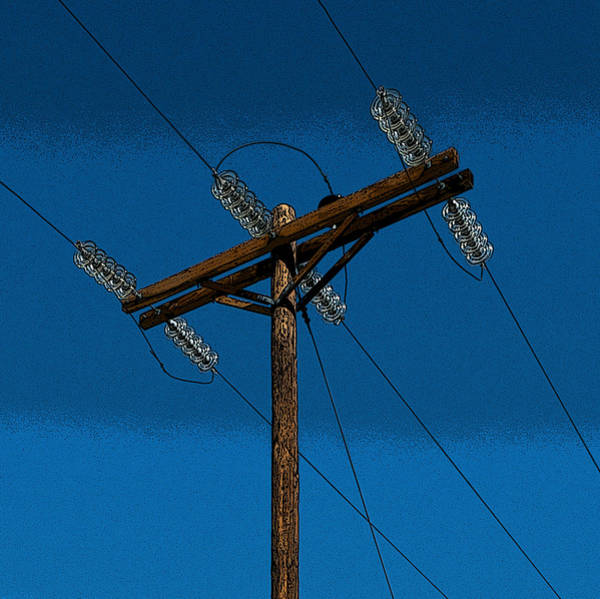 Posterize Photograph - Power Pole And Glass by Murray Bloom