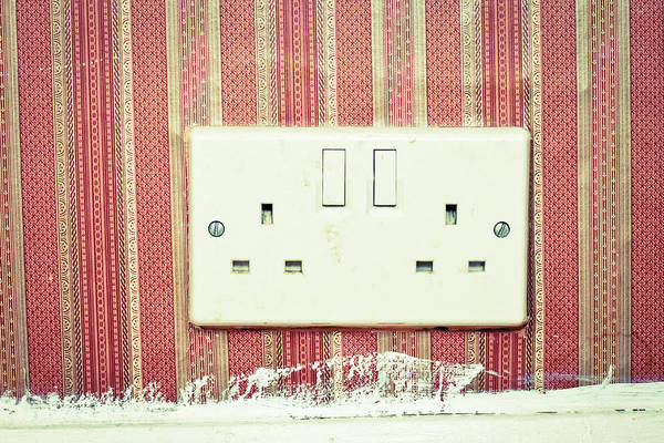 Voltage Photograph - Power Socket by Tom Gowanlock