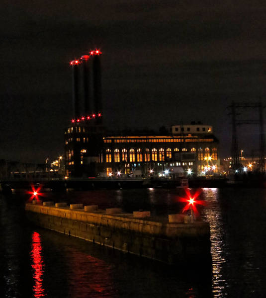 Photograph - Power Station In Providence by Nancy De Flon
