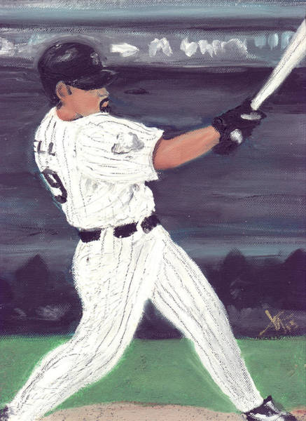 Hitter Painting - Powered By Lowell by Jorge Delara