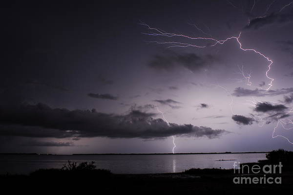 Electric Storm Photograph - Powerful Tranquility by Quinn Sedam