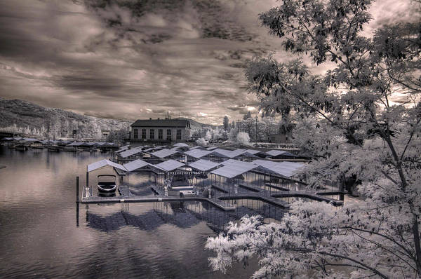 Photograph - Powerhouse Marina In Infrared 1 by Lee Santa