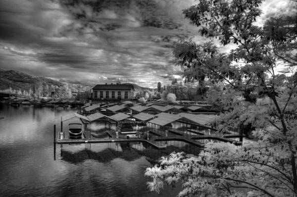 Photograph - Powerhouse Marina In Infrared 2 by Lee Santa