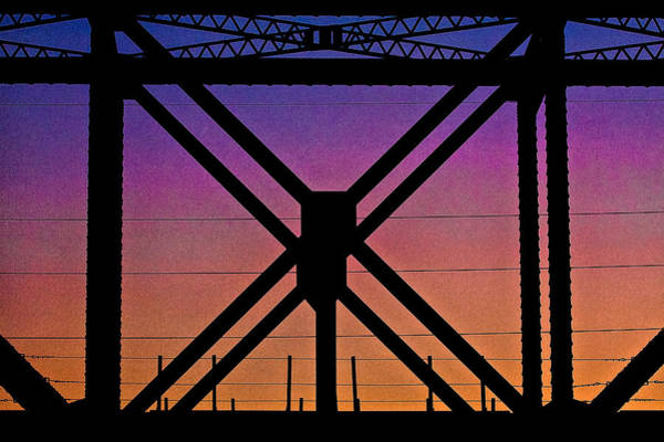Photograph - Powerlines And Girders At Sunset by Robert FERD Frank