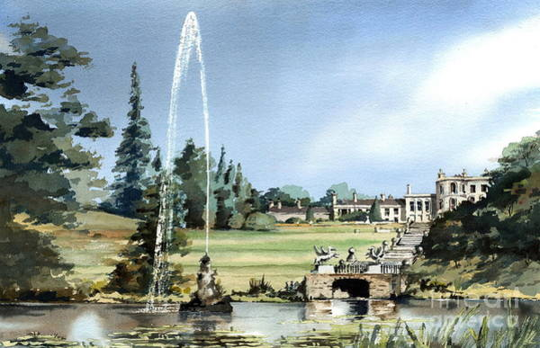 Painting -  Powerscourt House, Enniskerry,  Co. Wicklow by Val Byrne