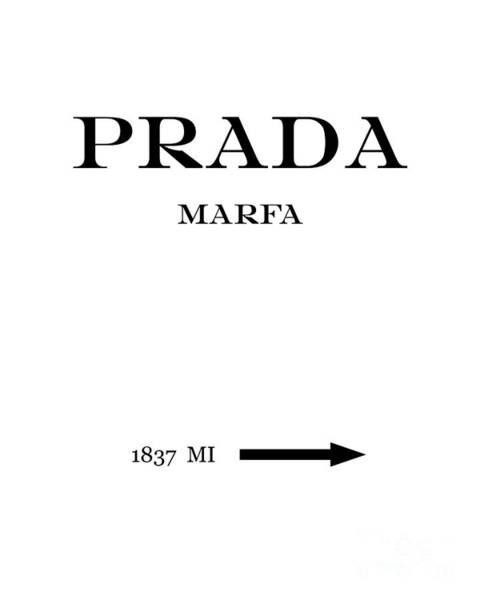 Prada Digital Art - Prada Marfa 1837 Mi Mileage Distance by Edit Voros