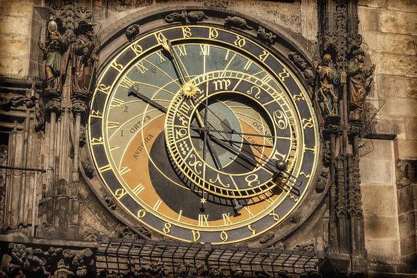 Allegory Photograph - Prague Astronomical Clock by Joan Carroll