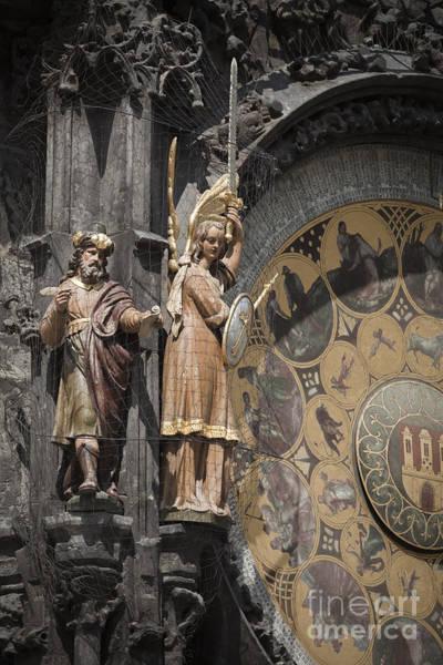 Photograph - Prague Astronomical Clock by Maria Heyens