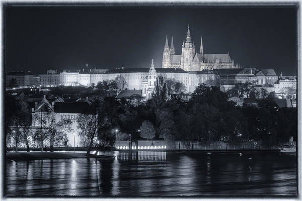 Photograph - Prague Castle At Night by Joan Carroll