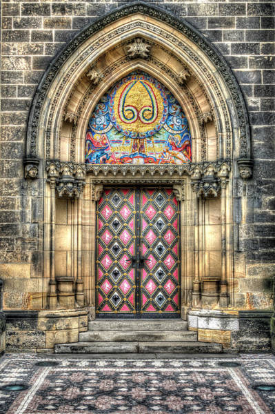 Photograph - Prague Castle Doorway by John Magyar Photography