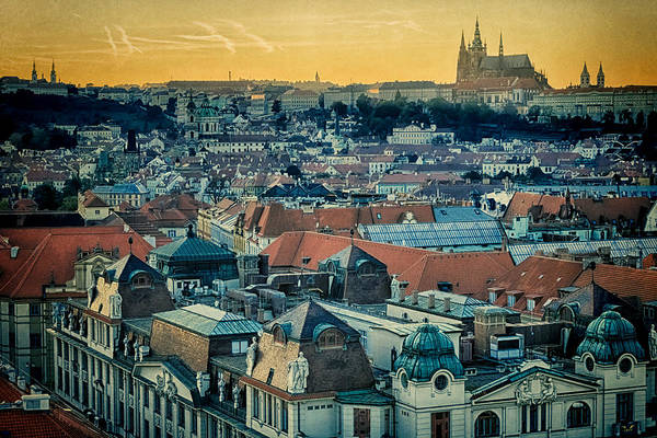 Photograph - Prague Castle Sunset by Joan Carroll