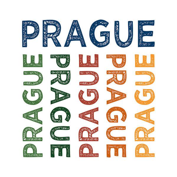 Czech Digital Art - Prague Cute Colorful by Flo Karp