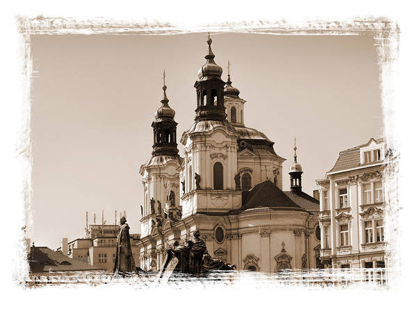 Photograph - Prague  Grunge by Brenda Kean
