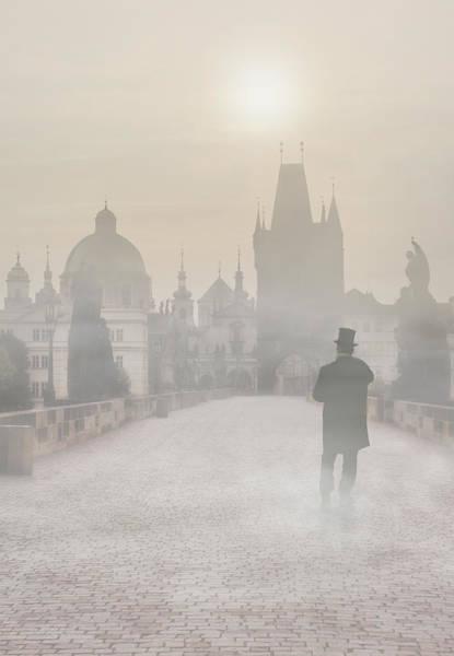 Photograph - Prague In The Morning Fog by Jaroslaw Blaminsky