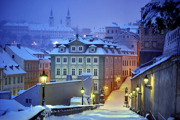 Lamp Wall Art - Photograph - Prague In White by Martin Froyda