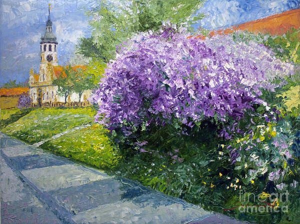 Wall Art - Painting - Prague Spring Loreta Lilacs by Yuriy Shevchuk