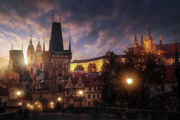 Cathedral Photograph - Prague Sun. by Juan Pablo De