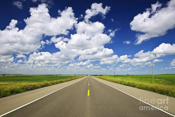 Scenic Highway Wall Art - Photograph - Prairie Highway by Elena Elisseeva