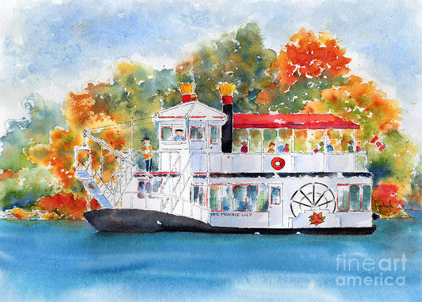 Painting - Prairie Lily Riverboat by Pat Katz
