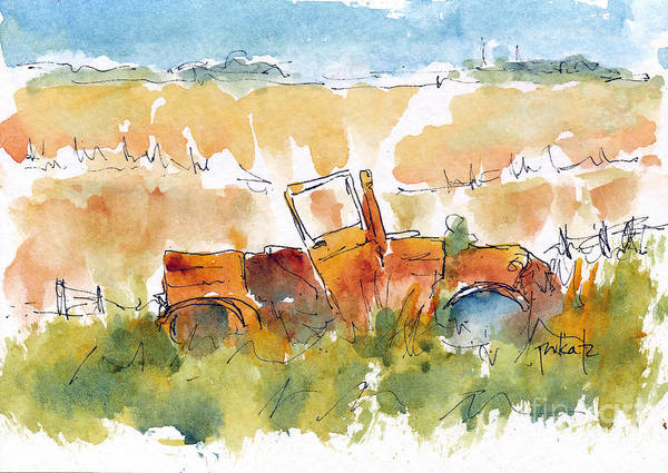 Painting - Prairie Rustbucket by Pat Katz